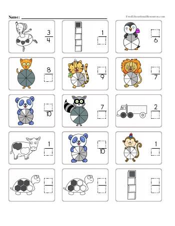 Basic fractions worksheets pdf